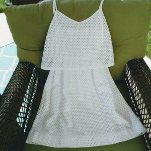 LOFT White SpaghettI Strap Dress Size 4P